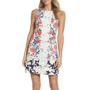 New Eliza J Lace Floral Mini Dress